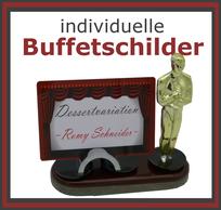 individuelle Buffetständer und Kartenhalter