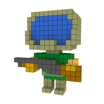 Moxel - Voxel - Doom - Player - Marine