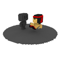 Moxel - Voxel - Liu Kang - Flying Kick