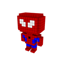 Moxel - Voxel - Spiderman