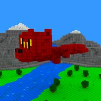 Moxel - Voxel - Drache - Dragon