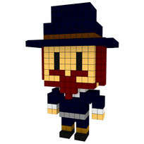 Moxel - Voxel - Abraham Lincoln