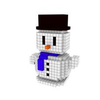 Moxel - Voxel - Schneemann - Snowman