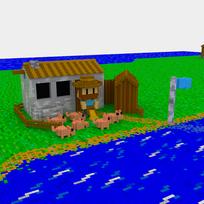 Moxel - Voxel - Settlers - Pig Farmer
