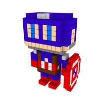 Moxel - Voxel - Captain America
