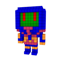 Moxel - Voxel - Man-E-Faces - Monster