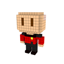 Moxel - Voxel - Jean-Luc Picard
