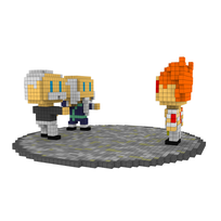 Moxel - Voxel - One Punch Man - Garou vs. Bang & Bamb