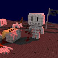 Moxel - Voxel - Skeleton - Skelett