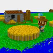 Moxel - Voxel - Settlers - Farmer