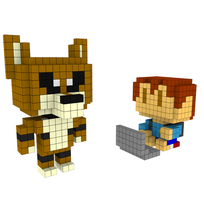 Moxel - Voxel - One Punch Man - Child Emperor & Underdog Man