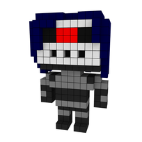 Moxel - Voxel - One Punch Man - Drive Knight