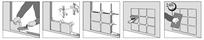 Die Kunststoff – Verlegekreuze, Abstandshalter bzw. Fugenkreuze  ermöglichen eine schnelle, präzise Montage und sorgen für eine gleichmäßige Fugenbreite. Überdies verhindern Sie bei der traditionellen Verlegemethode dass die Bewehrungs-stäbe die Glasbaust