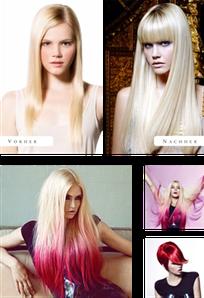 Collage von Frauen vor und nach dem Besuch beim Friseur in Mannheim