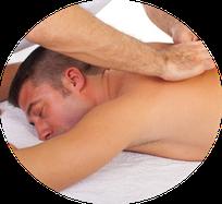 Massagezeitraum, Bild, Mann, Massage, Gesicht, Entspannung, Wellness Massage