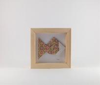 Cadre mural origami Poisson chambre enfant cadeau naissance