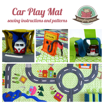 Car play mat, Street mat, Activity mat Road mat sewing instructions tutorial pattern