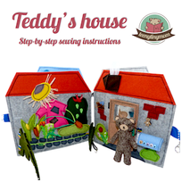 How to make a Quiet book  Teddy house playhouse