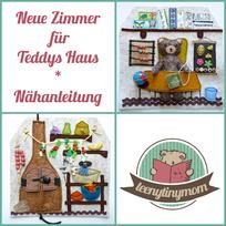 Quiet book Teddy Spielbuch Activity book Feinmotorik Spielhaus