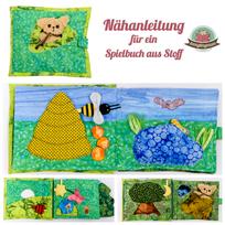 Stoffbuch Teddy Plüsch Nähanleitung für Babys Kleinkinder Softbuch Spielbuch aus Stoff Nähanfänger