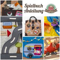 Teddy Anleitung Spielbuch nähen Tutorial Quiet book sewing Softbook Acitivity book