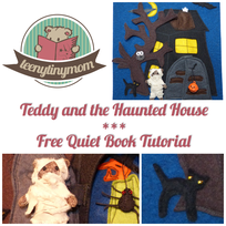 How to make a Quiet book Teddy sewing Activtiy book Halloween