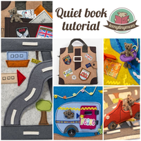 Quiet book Teddy around the world instruction templateTutorial patterns quiet book activity book toddler sewing