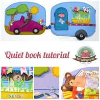 Teddy Quiet book Storybook Feltbook Caravan Car sewing instructions