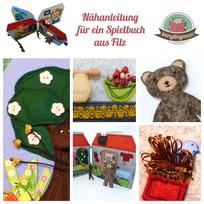 Puppenhaus Teddy Spielbuch Spielhaus aus Filz Nähanleitung Quiet book