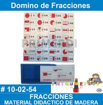 Domino de fracciones Material didáctico de madera