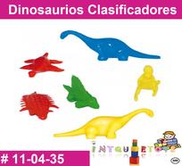 dinosaurios en material didactico de plastico