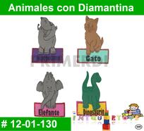 material didactico de animales en foamy