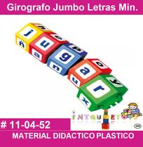 girografo de letras en plastico material didactico para el lenguaje