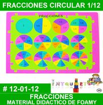 las fracciones en material didactico de foami