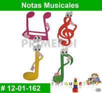 notas musicales en foamy