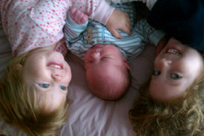Lucy, Ethan and Evelyn