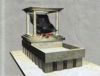 Макет памятника Игорю МАСЛОВУ Архитектор: Анатолий ОВИНОВ