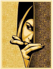 Shepard Fairey Israel Palestine Woman