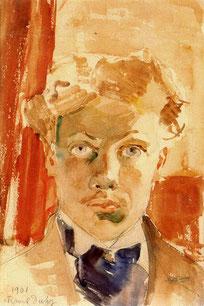 Autorretrato juvenil de Raoulito (1901)