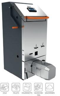 Kombikessel HB Holzvergaser Pellet mit externer Pelletbehälter