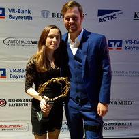 Anja Scherl und Florian Vogel beim Ball des Sports in Bayreuth