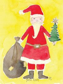 Grußkarte Weihnachtsmann Père Noel Weihnachten