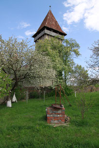 The tower of the church of Sura Mica where the provisions were kept