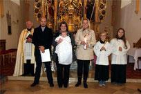 Die Eheleute Tobias und Julia Spachtholz aus Spielberg ließen ihr Kind Amely taufen.