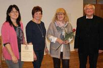 Anna Pregler wurde für 20 Jahre Mitgliedschaft geehrt.