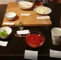 Pizzateig auf italienisch