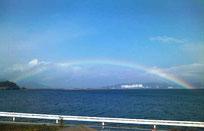 伊万里湾に架かる虹(2013.1.1)