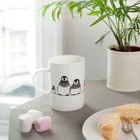 Helen Russell Creations Penguin parade mug