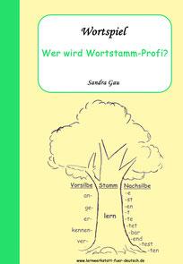 Wortspiel, schwache und starke Verben Übungen, schwache regelmäßige Verben Arbeitsblatt, Wortstamm Wortfamilie