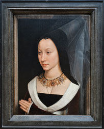 Damenportrait, rechte Tafel eines Eheportraits, 15. Jh. Metropolitan Museum of Art. Foto: Nina Möller